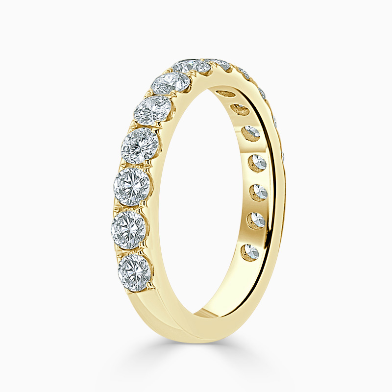 18ct Yellow Gold 3.25mm Round Brilliant Cutdown Set Three Quarter Eternity Ring