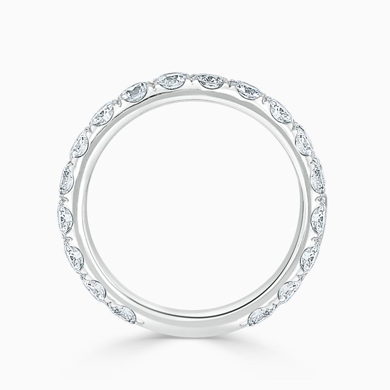 Platinum 3.25mm Round Brilliant Cutdown Set Three Quarter Eternity Ring