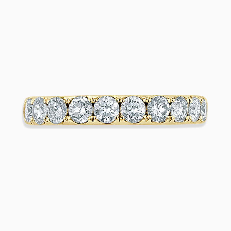 18ct Yellow Gold 3.50mm Round Brilliant Cutdown Set Three Quarter Eternity Ring