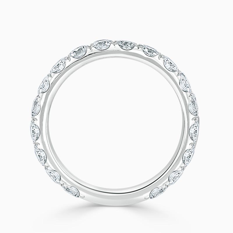 Platinum 3.50mm Round Brilliant Cutdown Set Three Quarter Eternity Ring