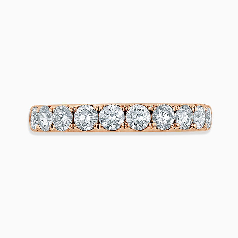 18ct Rose Gold 3.25mm Round Brilliant Cutdown Set Half Eternity Ring