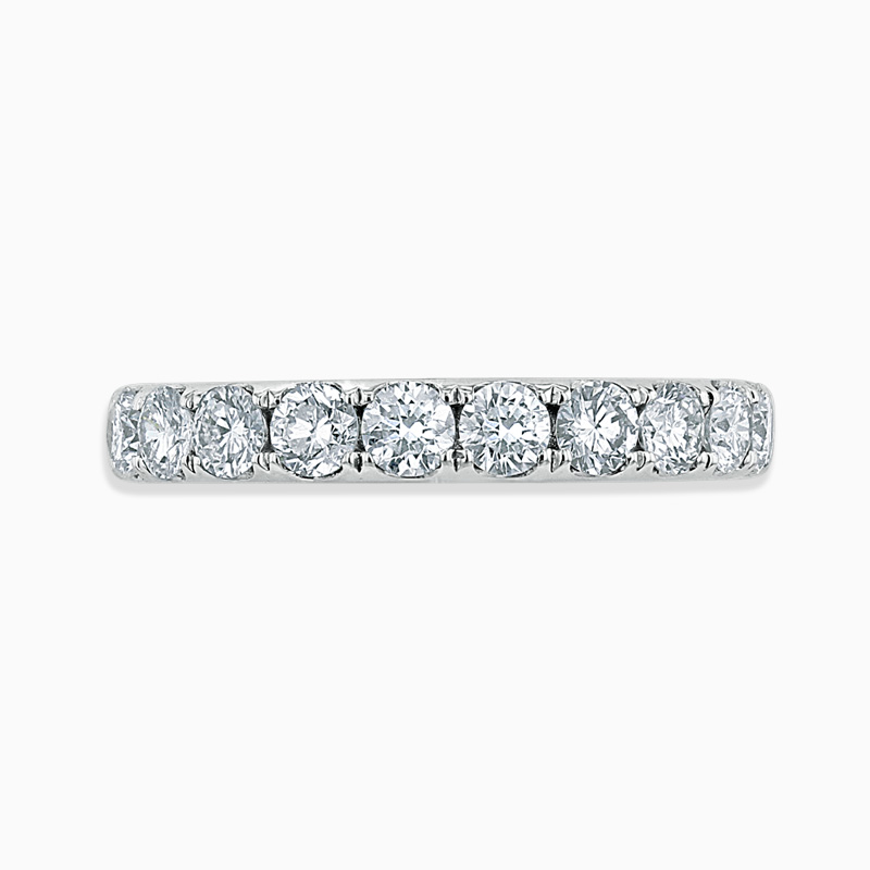 Platinum 3.25mm Round Brilliant Cutdown Set Half Eternity Ring