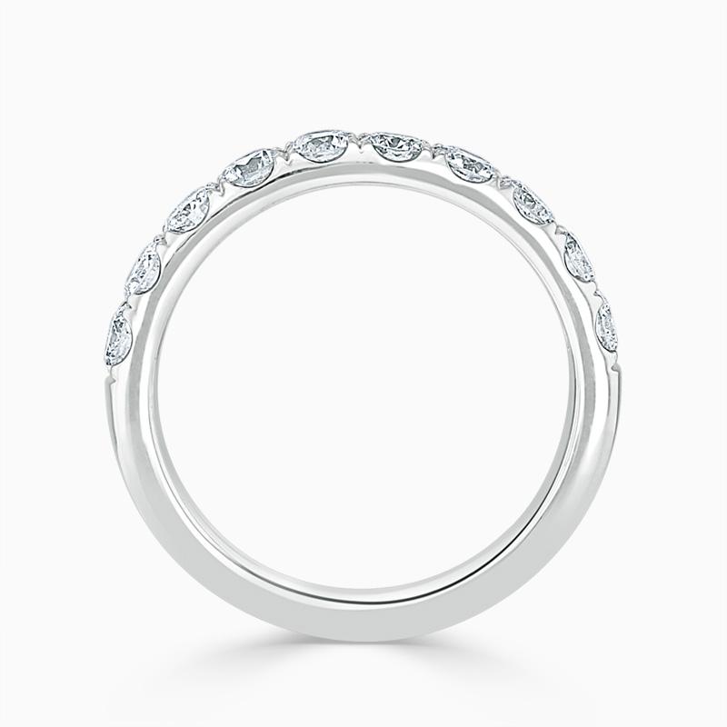 Platinum 3.50mm Round Brilliant Cutdown Set Half Eternity Ring