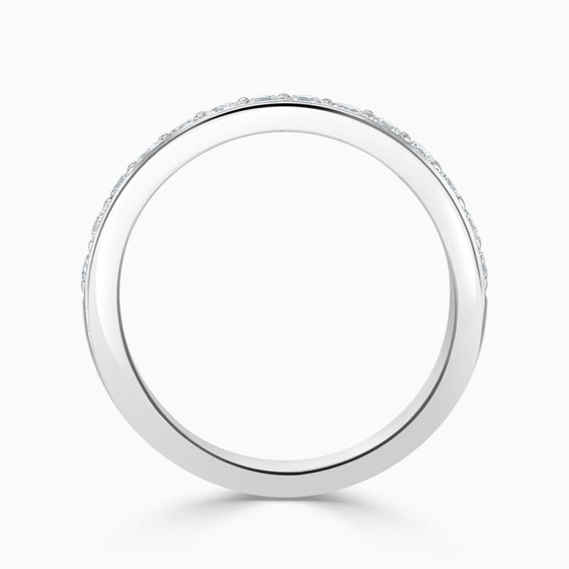 18ct White Gold 3.50mm Round Brilliant Pavé Set Half Eternity Ring