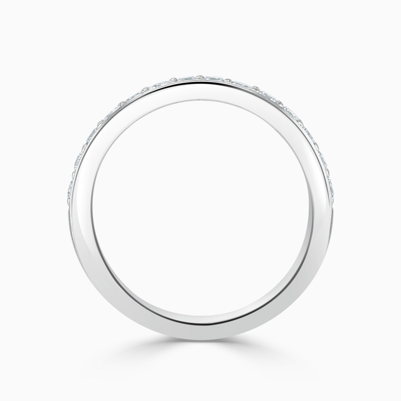 18ct White Gold 3.25mm Round Brilliant Pavé Set Half Eternity Ring
