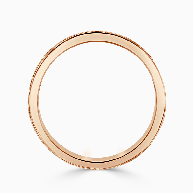 18ct Rose Gold 2.75mm Princess Cut Channel Set Full Eternity Ring