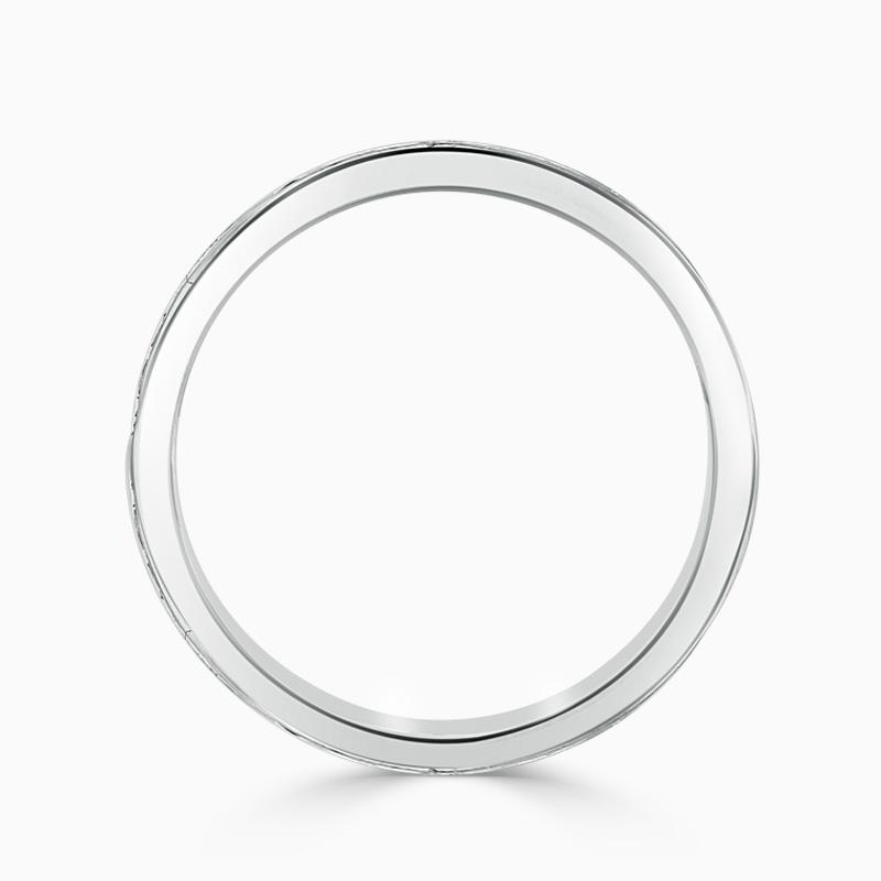 Platinum 2.75mm Princess Cut Channel Set Full Eternity Ring