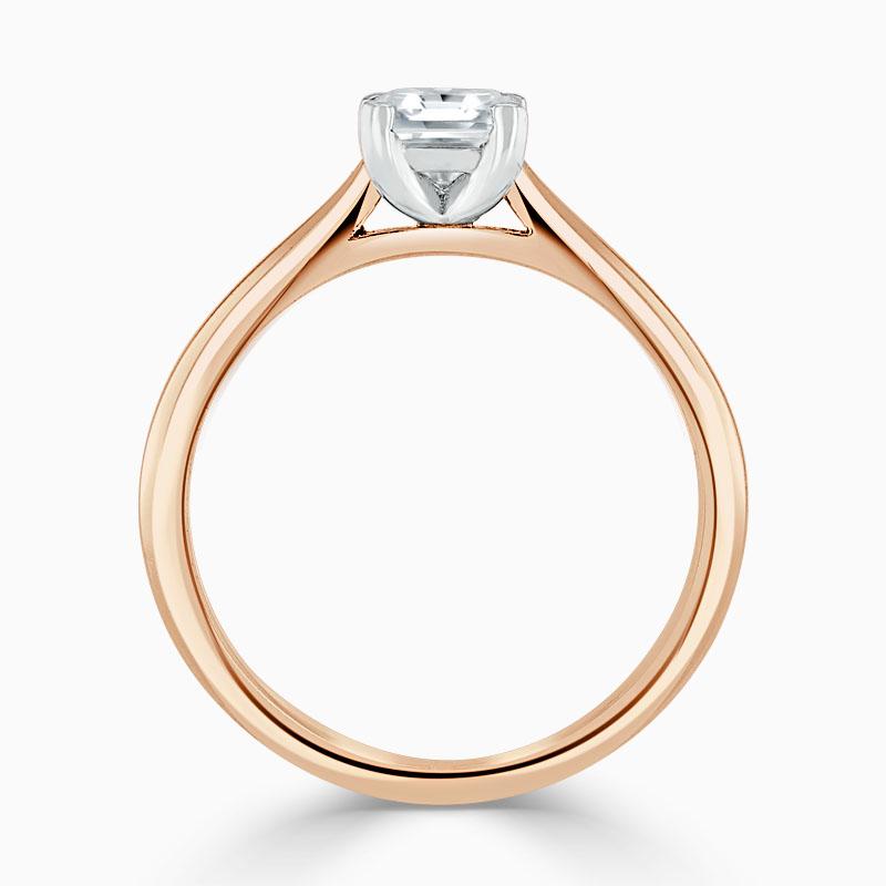 18ct Rose Gold Asscher Cut Classic Wedfit Engagement Ring