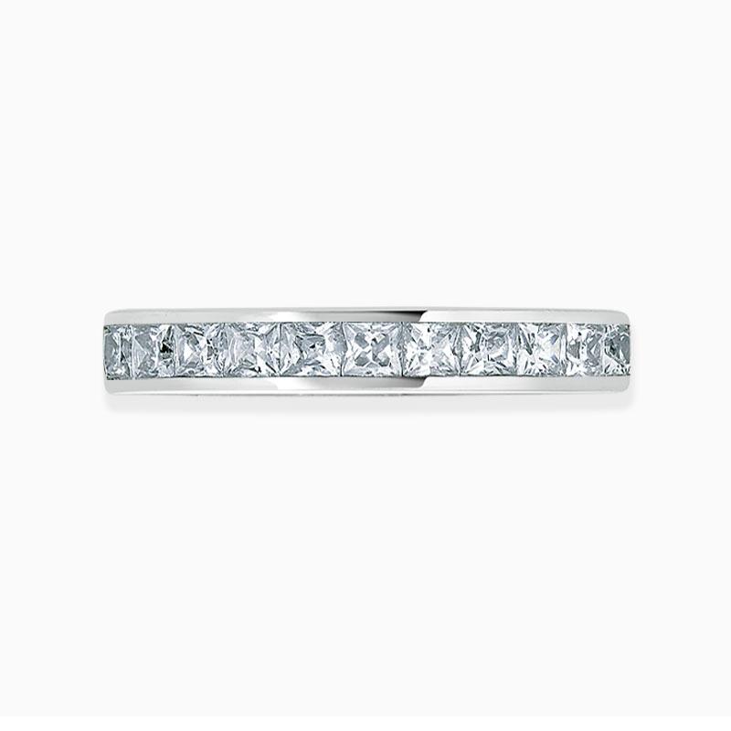 Platinum 3.50mm Princess Cut Channel Set Full Eternity Ring