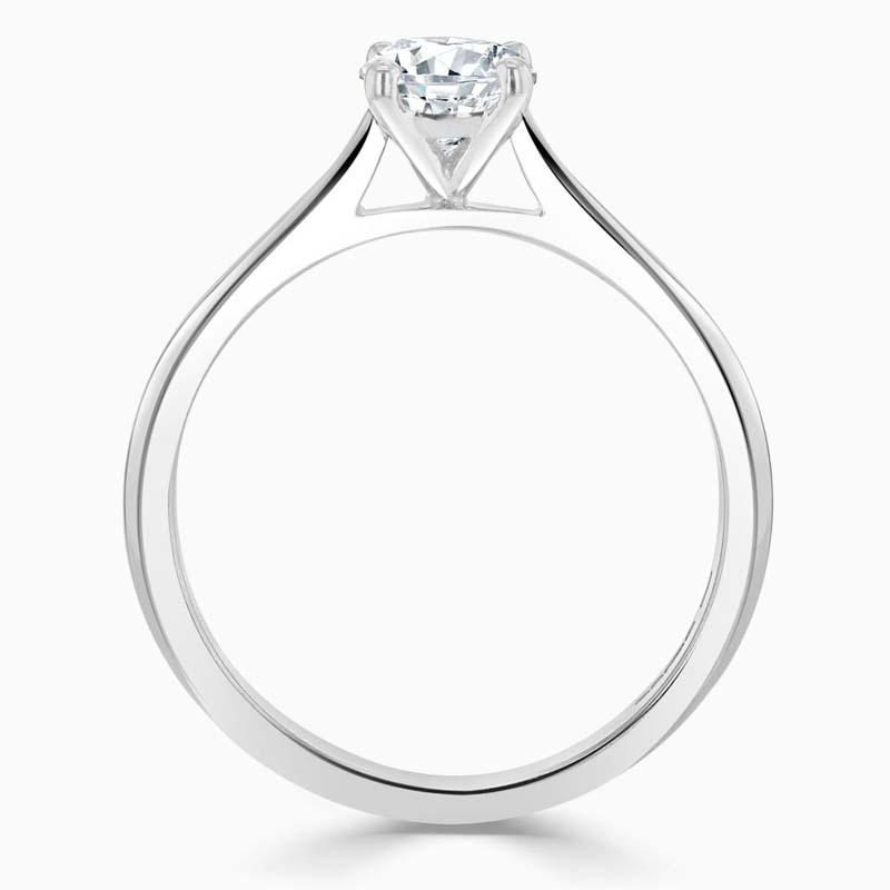 Platinum Cushion Cut Classic Wedfit Engagement Ring