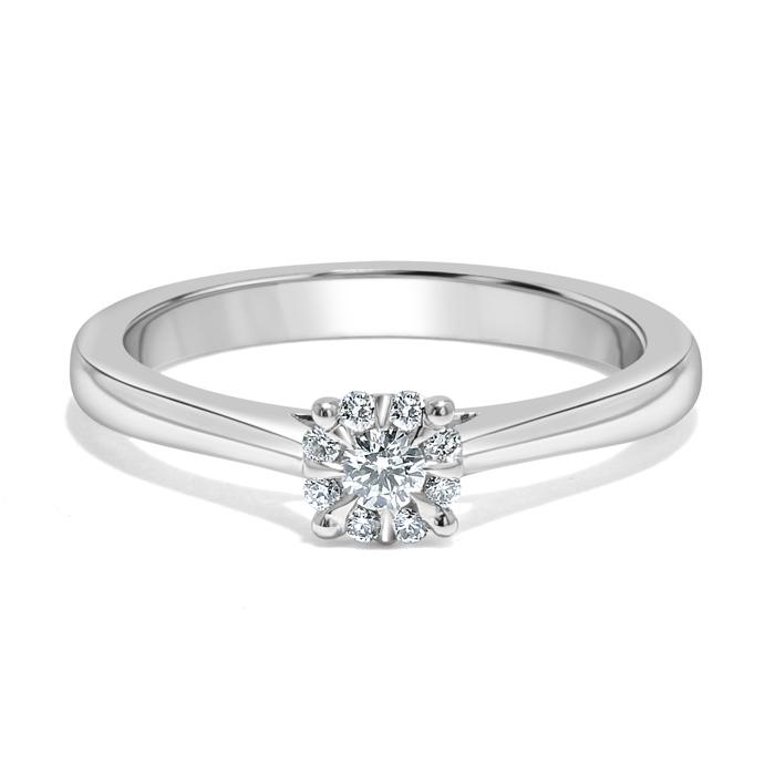 Platinum Cluster Diamond Set Engagement Ring