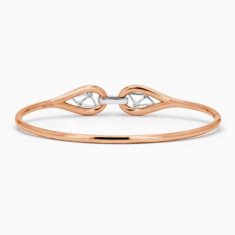 18ct Rose Gold Constellation Diamond Bangle