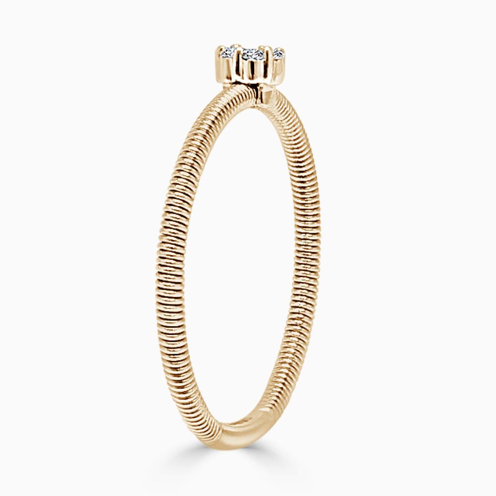 18ct Rose Gold Florence Diamond Ring