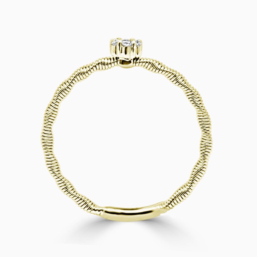 18ct Yellow Gold Florence Entwined Diamond Ring