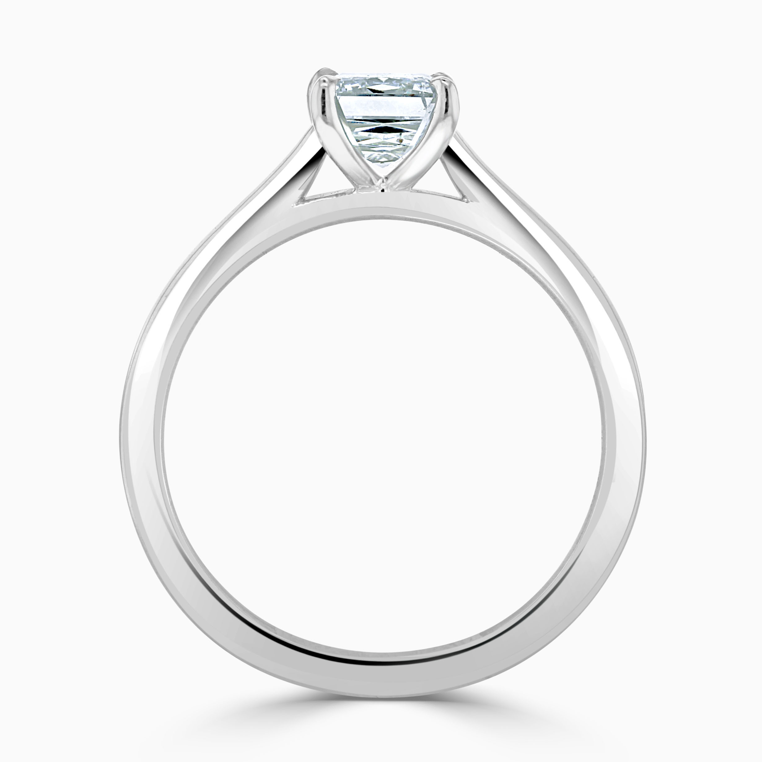 Platinum Crisscut Classic Wedfit Engagement Ring with Crisscut, 2.02ct, G Colour, VVS1 Clarity - GIA