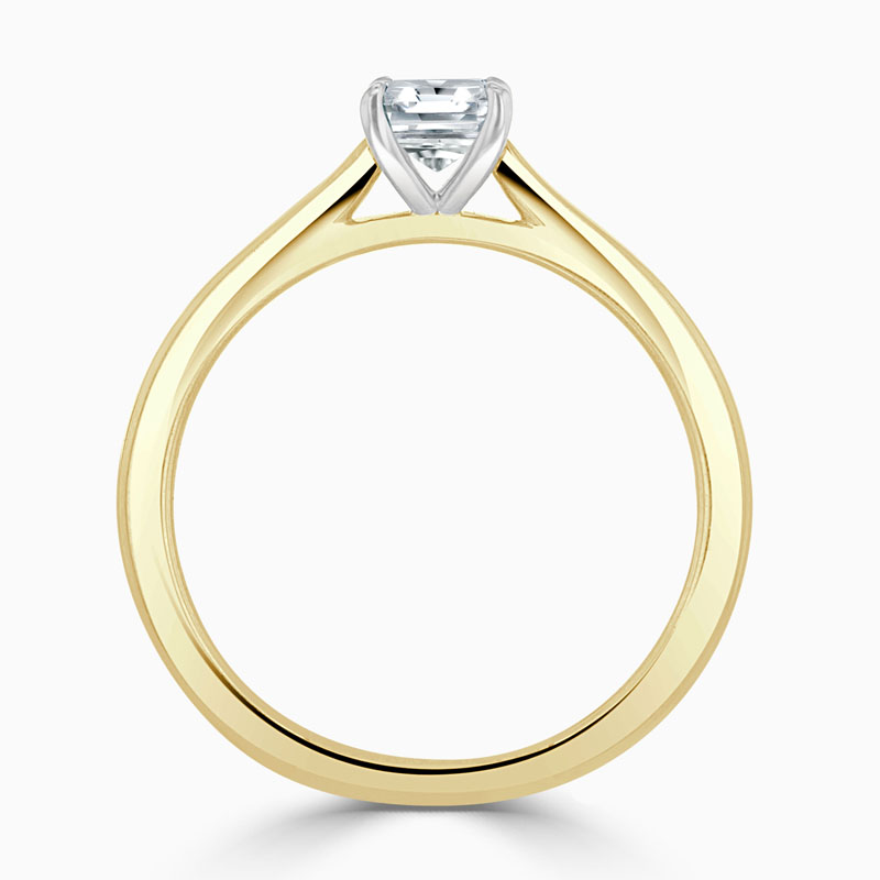 18ct Yellow Gold Crisscut Classic Wedfit Engagement Ring with Crisscut, 0.58ct, G Colour, VS1 Clarity - GIA