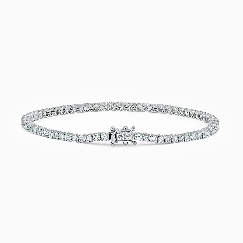 18ct White Gold Diamond Line Bracelet (3.75ct)