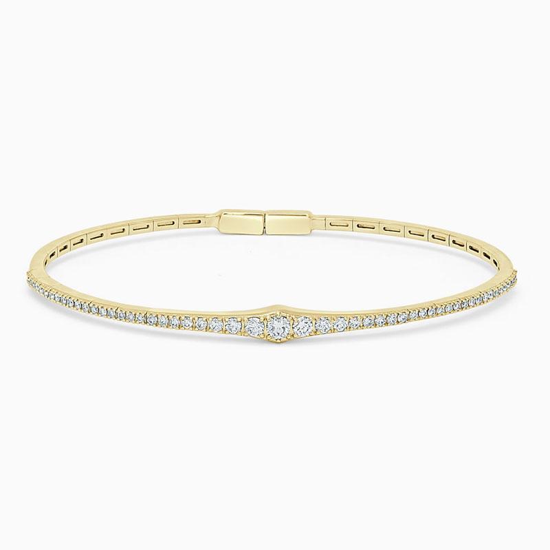 18ct Yellow Gold Diamond Graduated Bangle