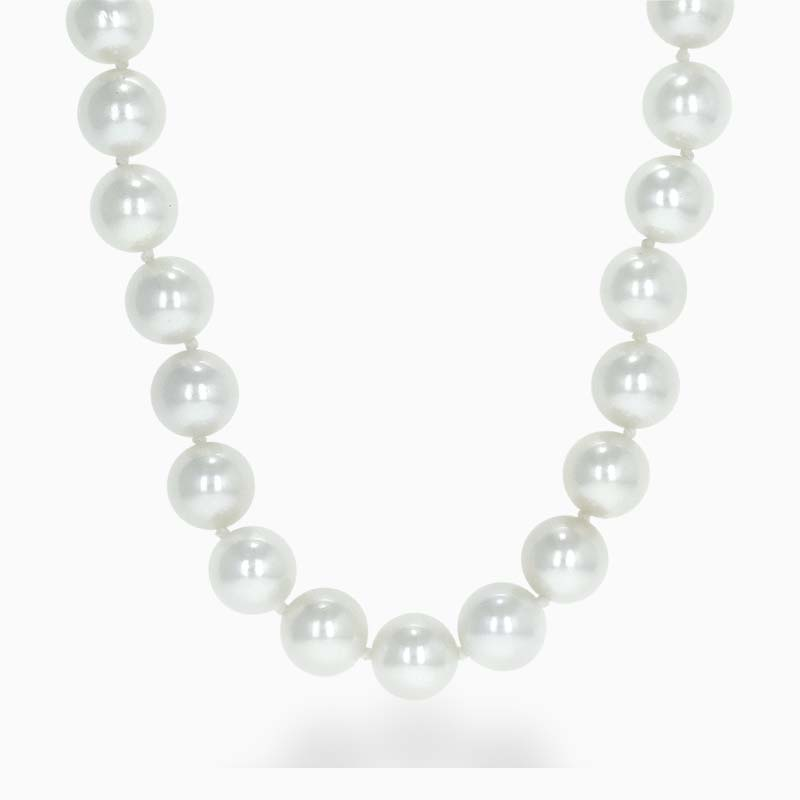18ct White Gold 8.5mm - 9mm Akoya Pearl Necklace