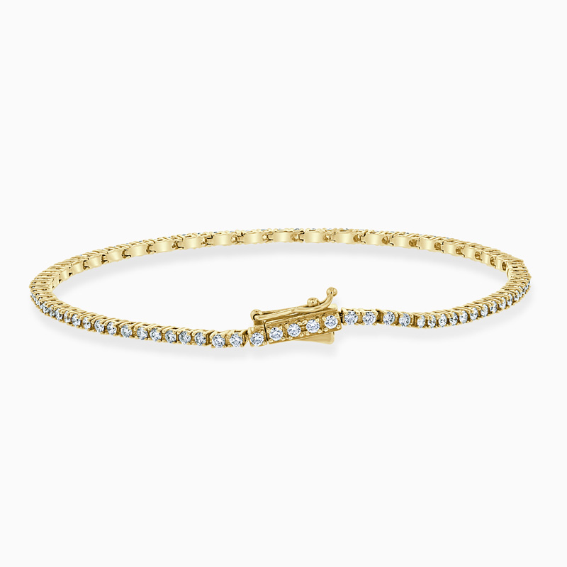 18ct Yellow Gold Diamond Line Bracelet (1.20ct)