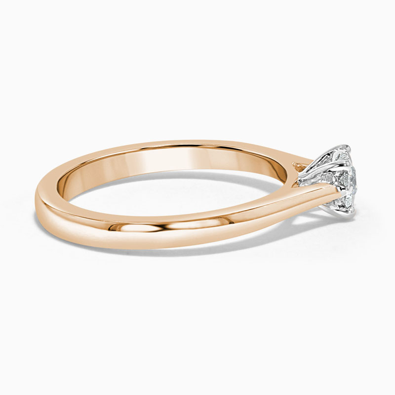 18ct Rose Gold Cluster Diamond Set Engagement Ring
