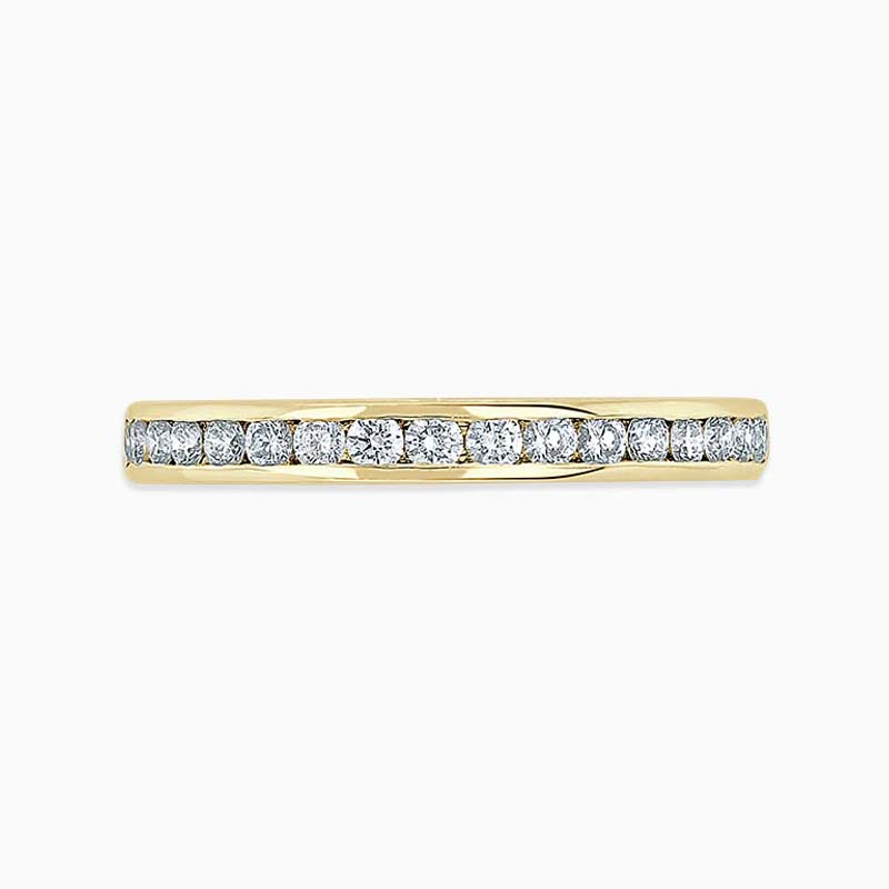 18ct Yellow Gold 2.50mm Round Brilliant Channel Set Full Eternity Ring