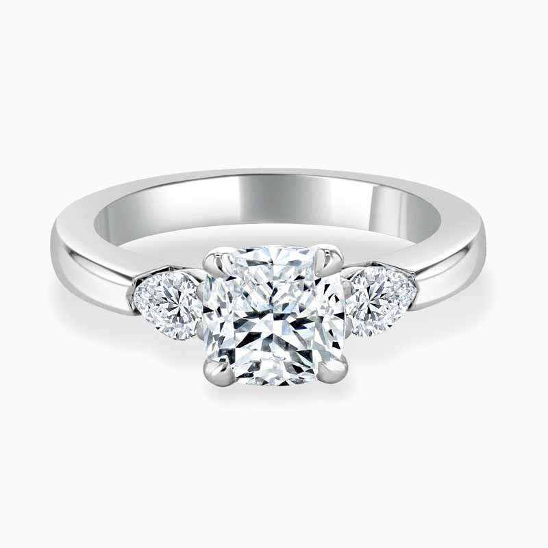 Cushion Moissanite With Pears