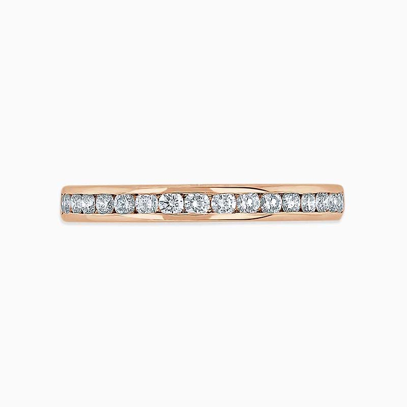 18ct Rose Gold 2.50mm Round Brilliant Channel Set Full Eternity Ring