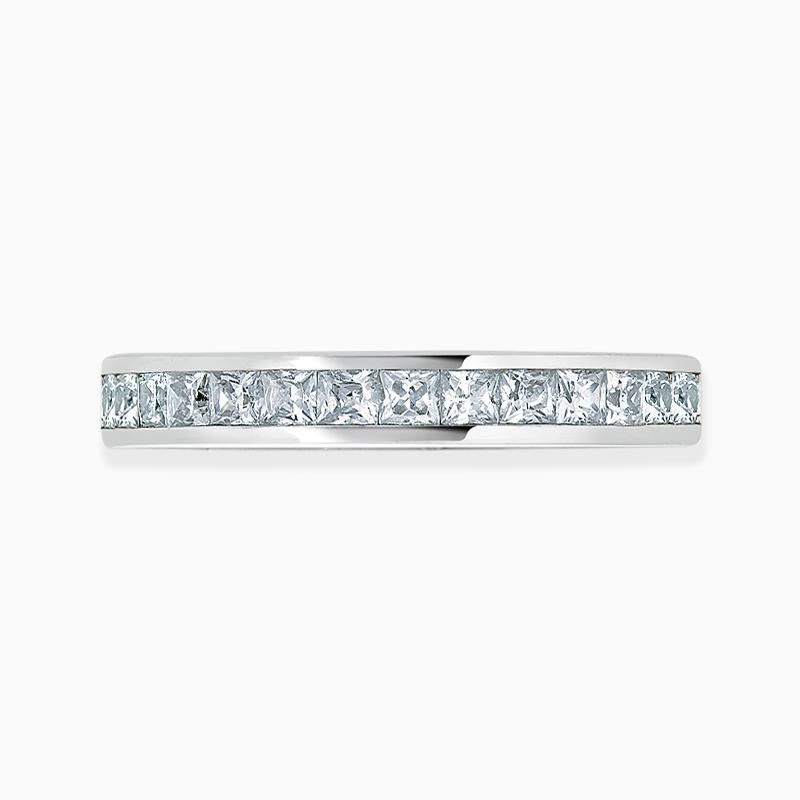 Platinum 2.50mm Princess Cut Channel Set Three Quarter Eternity Ring