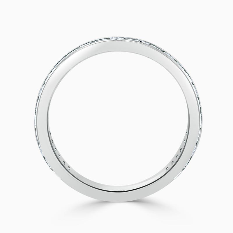 Platinum 3.00mm Princess Cut Channel Set Three Quarter Eternity Ring