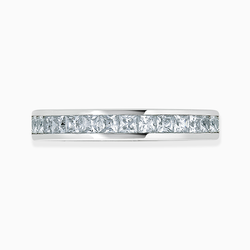 18ct White Gold 2.75mm Princess Cut Channel Set Three Quarter Eternity Ring