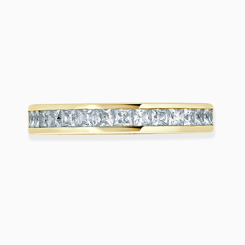 18ct Yellow Gold 3.25mm Princess Cut Channel Set Three Quarter Eternity Ring