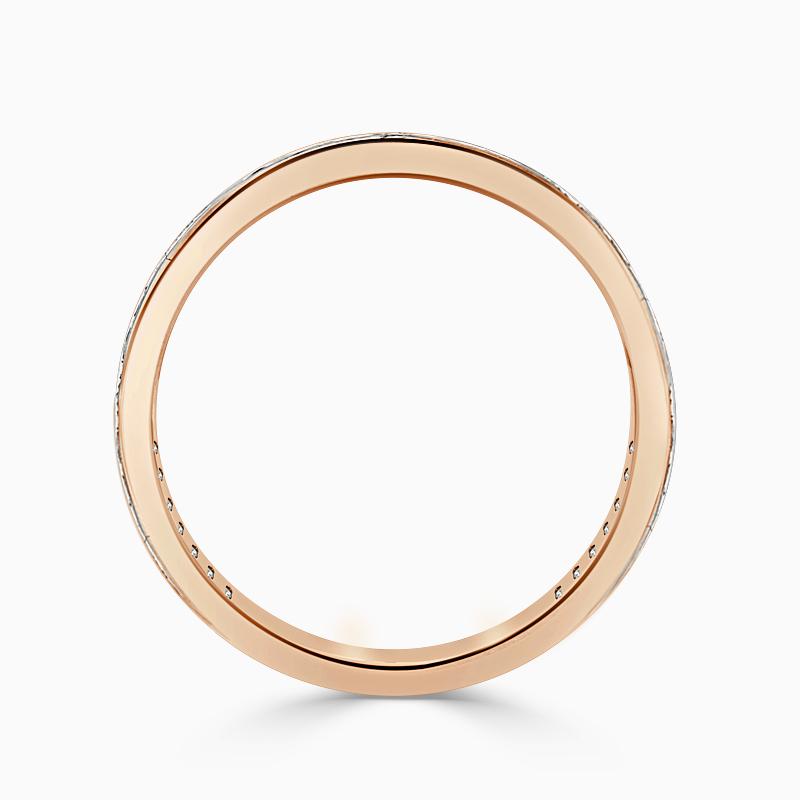 18ct Rose Gold 2.50mm Princess Cut Channel Set Three Quarter Eternity Ring