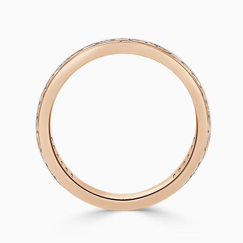 18ct Rose Gold 2.75mm Princess Cut Channel Set Three Quarter Eternity Ring
