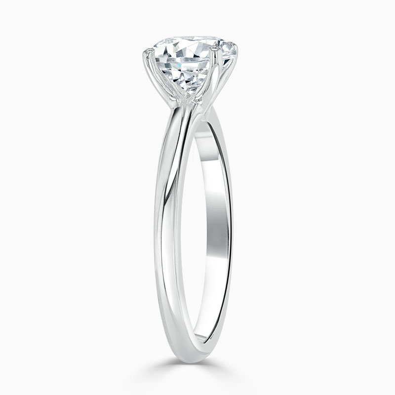 Platinum 950 Round Brilliant Simplicity Engagement Ring with Round, 0.65ct, G Colour, VS Clarity - GIA