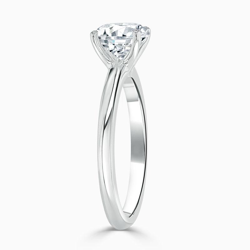 Platinum 950 Round Brilliant Simplicity Engagement Ring with Round 5.50mm Moissanite