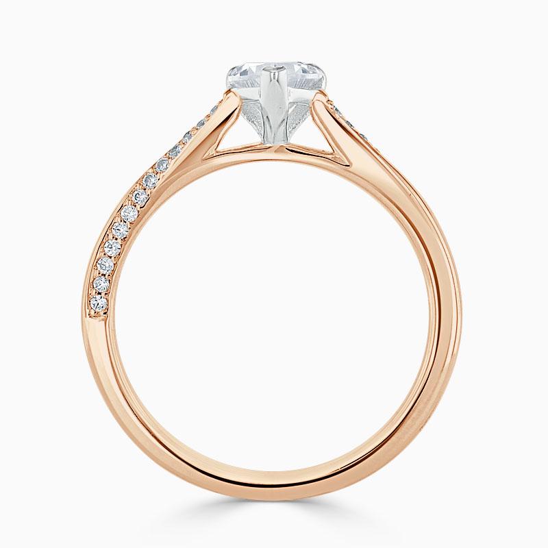 18ct Rose Gold Heart Shape Vortex Engagement Ring
