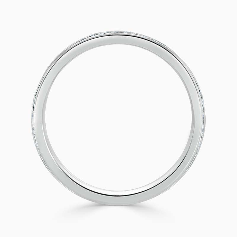 Platinum 2.50mm Round Brilliant Channel Set Full Eternity Ring