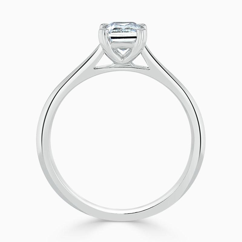 Platinum Emerald Cut Classic Wedfit Engagement Ring