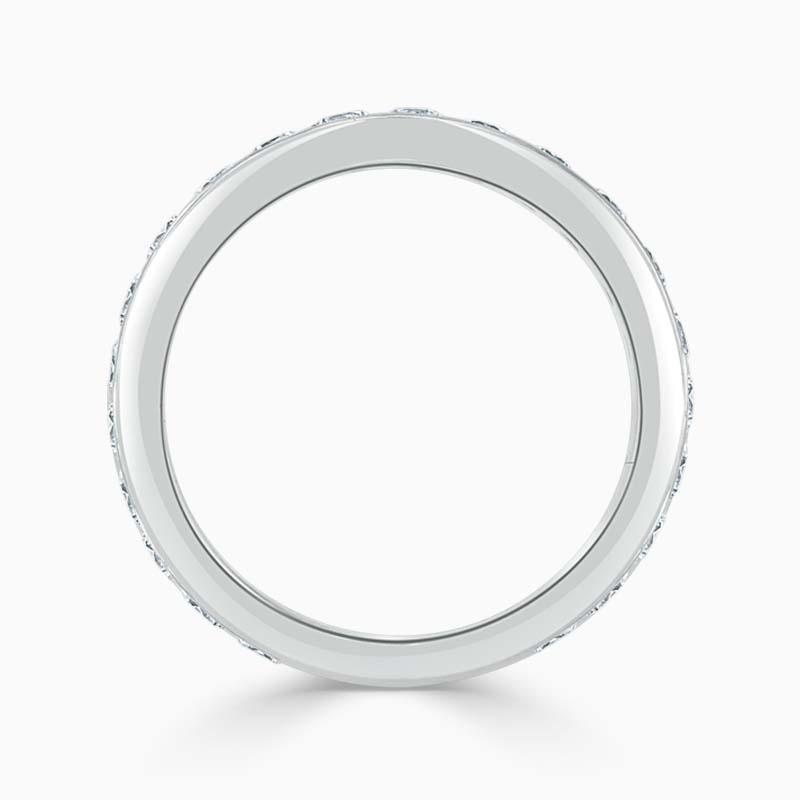 Platinum 3.50mm Round Brilliant Channel Set Full Eternity Ring