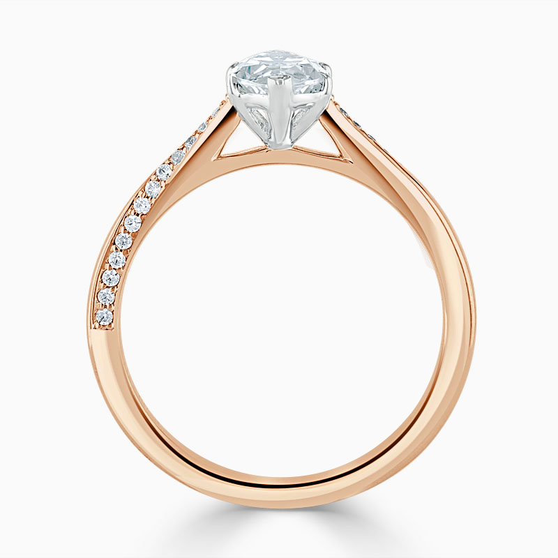 18ct Rose Gold Marquise Cut Vortex Engagement Ring
