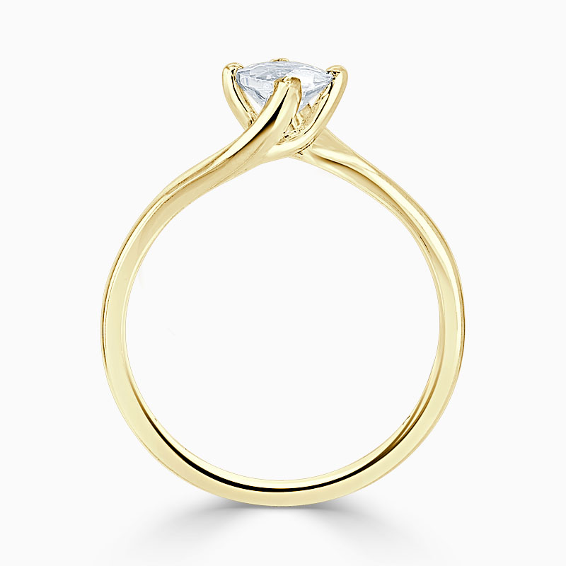 18ct Yellow Gold Marquise Cut Twist Engagement Ring