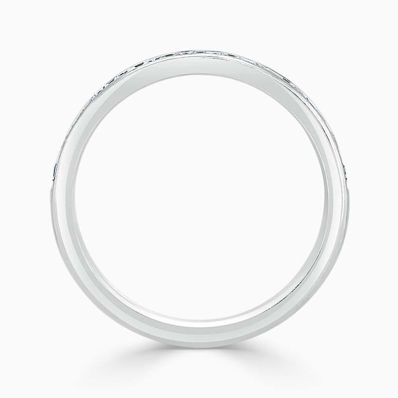 Platinum 3.25mm Round Brilliant Channel Set Half Eternity Ring