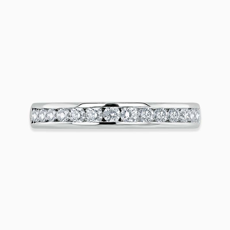 Platinum 3.25mm Round Brilliant Channel Set Full Eternity Ring