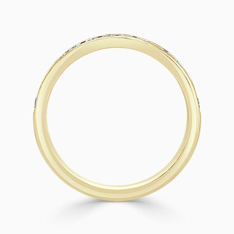 18ct Yellow Gold 3.25mm Round Brilliant Channel Set Half Eternity Ring