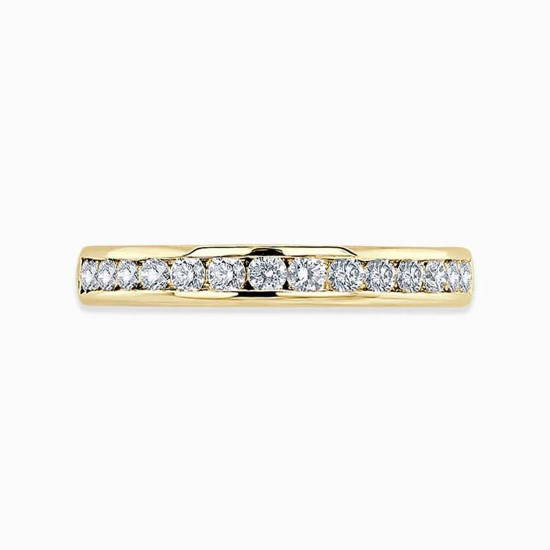 18ct Yellow Gold 3.25mm Round Brilliant Channel Set Full Eternity Ring