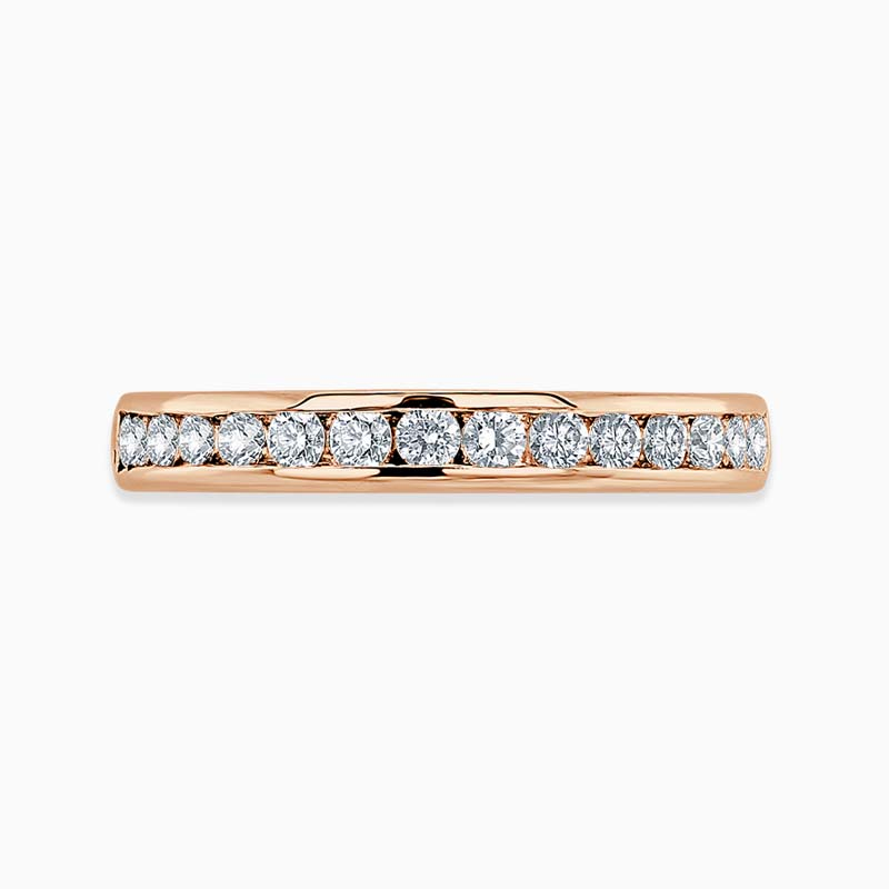 18ct Rose Gold 3.25mm Round Brilliant Channel Set Half Eternity Ring