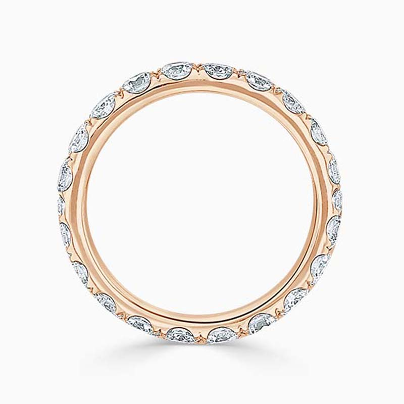18ct Rose Gold 3.25mm Round Brilliant Cutdown Set Full Eternity Ring