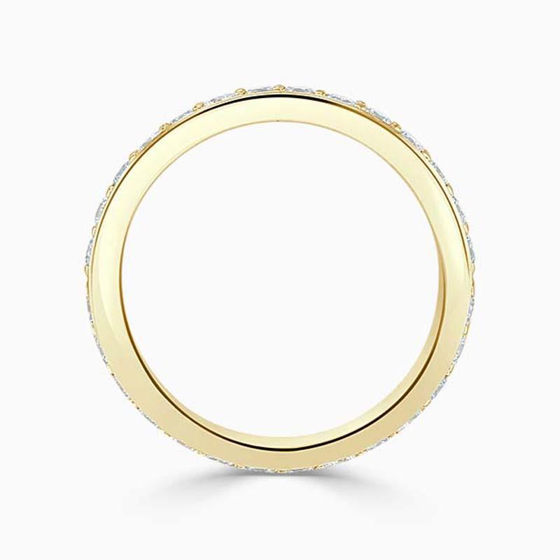 18ct Yellow Gold 3.25mm Round Brilliant Pavé Set Full Eternity Ring