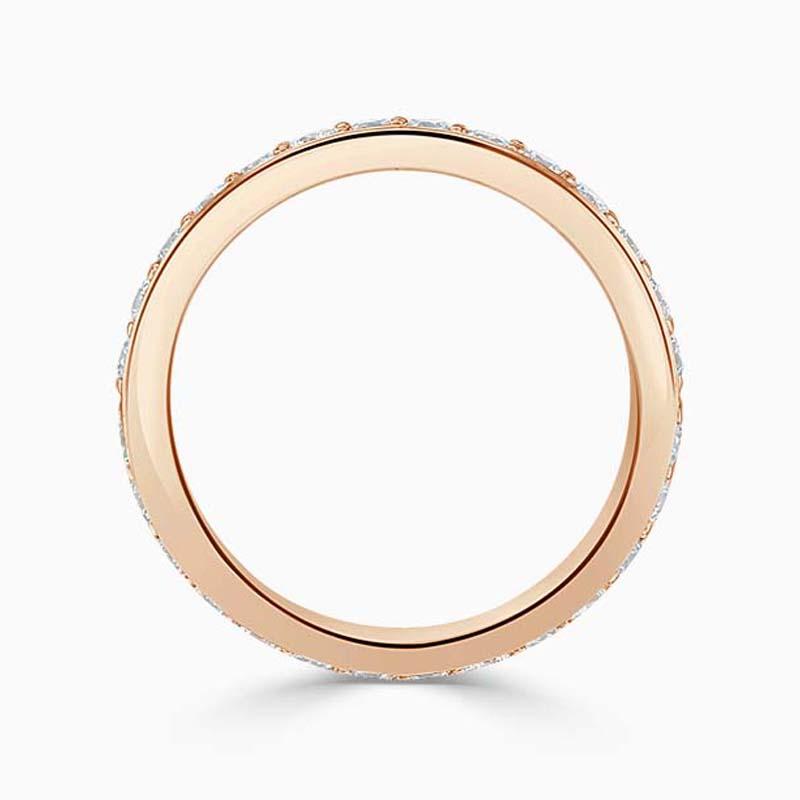 18ct Rose Gold 3.50mm Round Brilliant Pavé Set Full Eternity Ring